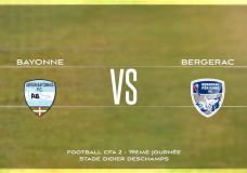 CFA2 Aviron Bayonnais vs Bergerac