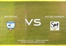 CFA Aviron Bayonnais FC vs MONT DE MARSANS FC