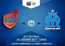 Dimanche 29 Janvier à 14h15 – AS Béziers – Olympique de Marseille – Coupe Gambardella Crédit Agricole – 32èmes de finale